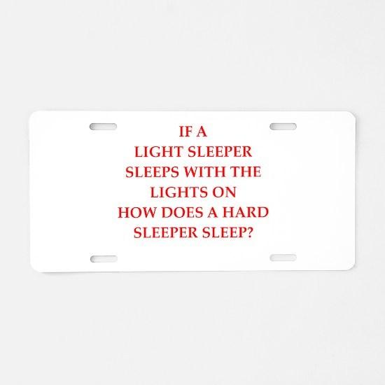 sleeper Aluminum License Plate