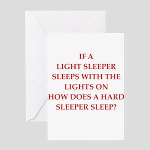 sleeper Greeting Cards