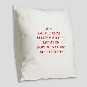 sleeper Burlap Throw Pillow