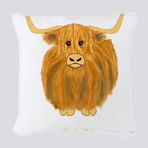 Woolly Moo Woven Throw Pillow