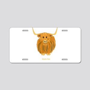 Woolly Moo Aluminum License Plate