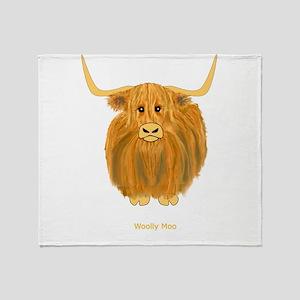Woolly Moo Throw Blanket