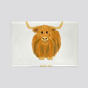 Woolly Moo Rectangle Magnet