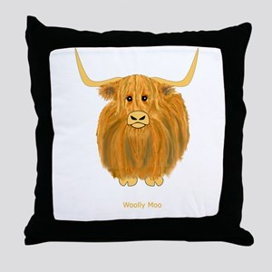Woolly Moo Throw Pillow