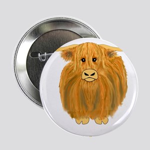 """Woolly Moo 2.25"""" Button"""