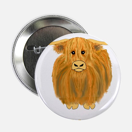 "Woolly Moo 2.25"" Button"