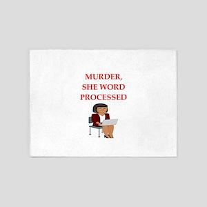 murder 5'x7'Area Rug