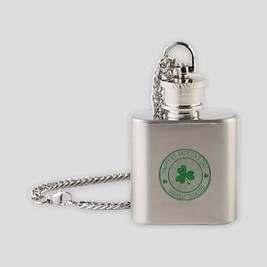 Nashville Happy St Patrick's Day Flask Necklace