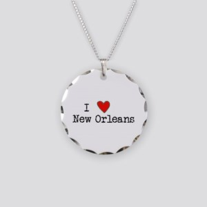 I Love New Orleans Necklace Circle Charm