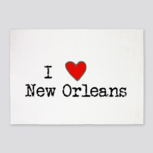 I Love New Orleans 5'x7'Area Rug