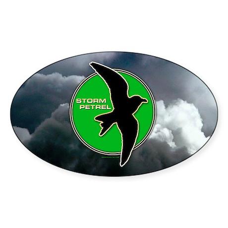 Storm Petrel Oval Sticker