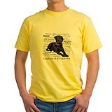 Black labrador Mens Classic Yellow T-Shirts