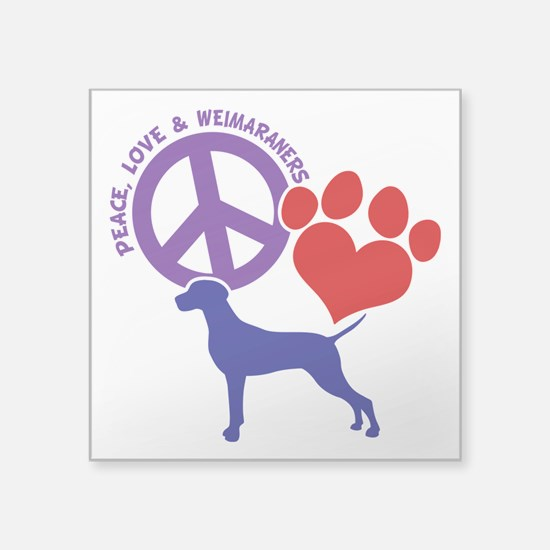"P,L,WEIMARANER Square Sticker 3"" x 3"""