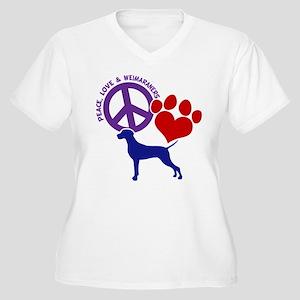 P,L,WEIMARANER Women's Plus Size V-Neck T-Shirt
