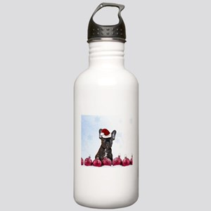 Christmas French Bulld Stainless Water Bottle 1.0L