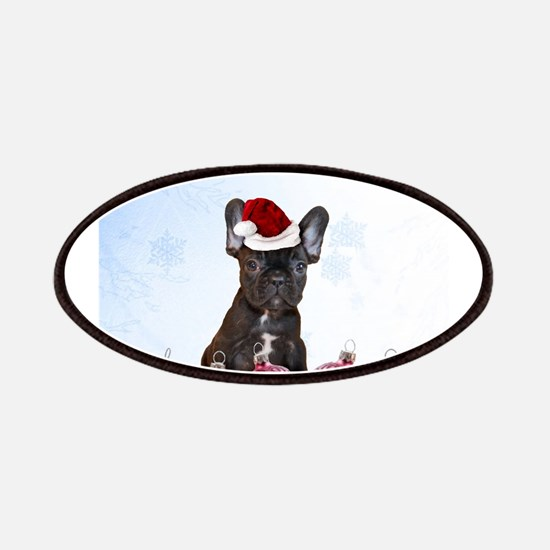 Christmas French Bulldog Patch