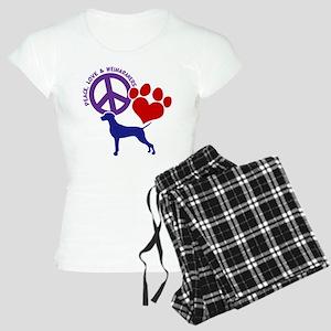 P,L,WEIMARANER Women's Light Pajamas