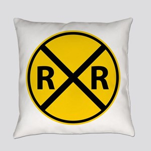 Railroad Crossing Everyday Pillow