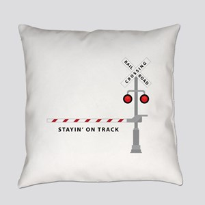 Stayin' On Track Everyday Pillow