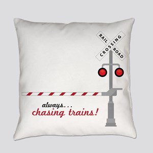 Chasing Trains! Everyday Pillow