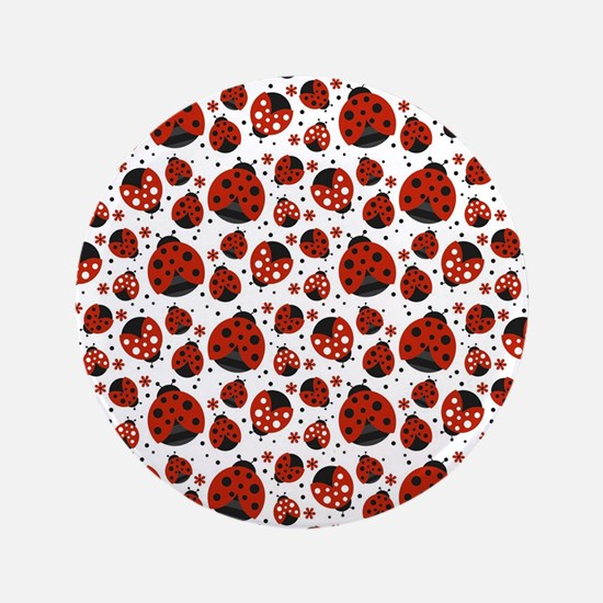 """Little Ladybugs 3.5"""" Button (100 pack)"""