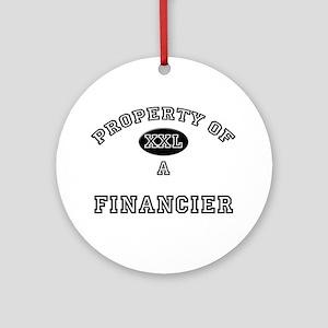 Property of a Financier Ornament (Round)