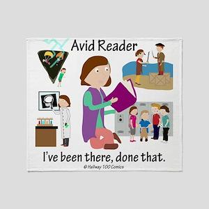 Avid Reader Throw Blanket
