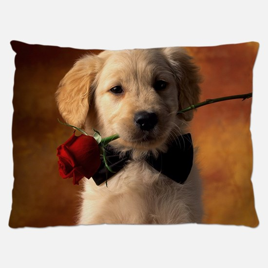 Cute Puppy With Rose Dog Bed