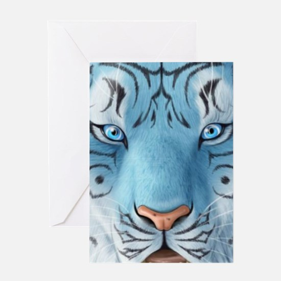 Fantasy White Tiger Greeting Cards