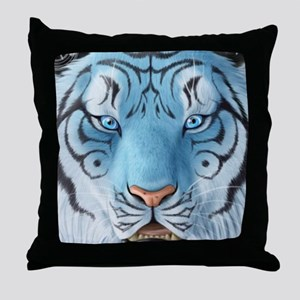 Fantasy White Tiger Throw Pillow