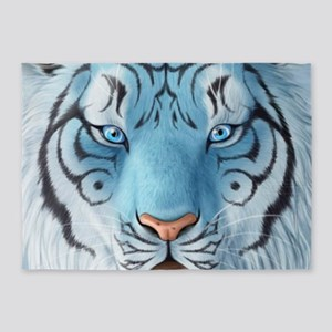 Fantasy White Tiger 5'x7'Area Rug
