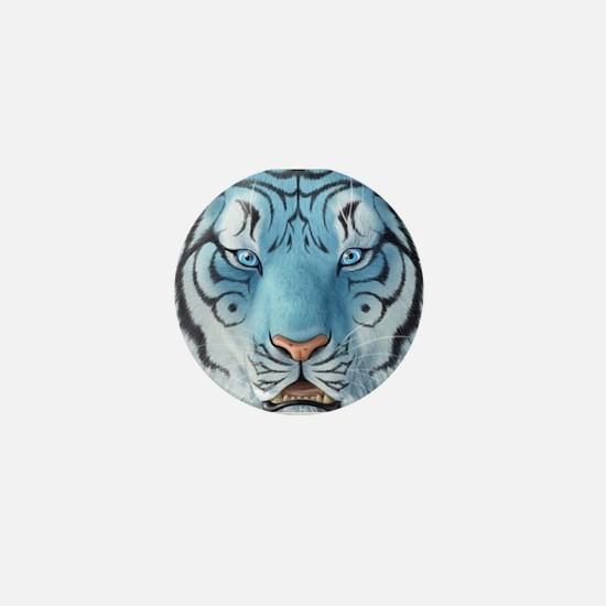 Fantasy White Tiger Mini Button