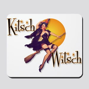 The Kitsch Witsch (broom) Mousepad