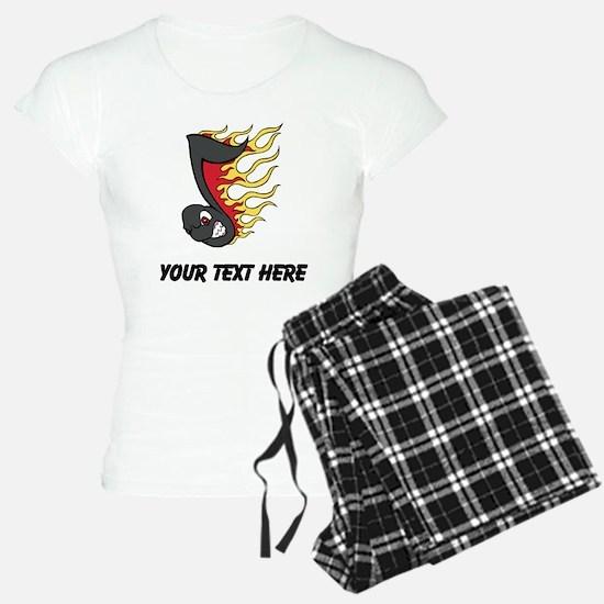 Fiery Music Note (Custom) Pajamas