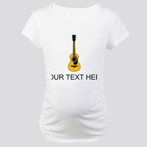 Acoustic Guitar (Custom) Maternity T-Shirt