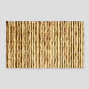 LIGHT BEIGE BAMBOO Area Rug