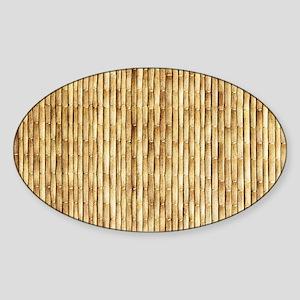 LIGHT BEIGE BAMBOO Sticker (Oval)