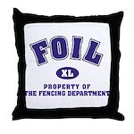 Foil: Fencing Dept Throw Pillow