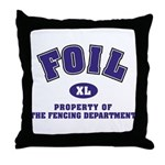 Foil: Fencing Dept Throw Pillow