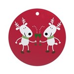 Winter Holiday Ornament (Round)