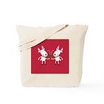 Winter Holiday Toasting Reindeer Tote Bag