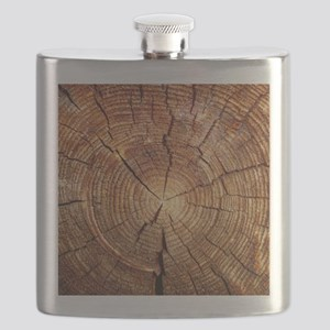 CROSS SECTION OF AN OLD TREE Flask