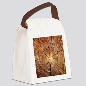 CROSS SECTION OF AN OLD TREE Canvas Lunch Bag