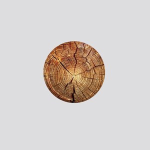CROSS SECTION OF AN OLD TREE Mini Button