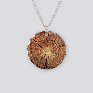 CROSS SECTION OF AN OLD TREE Necklace Circle Charm
