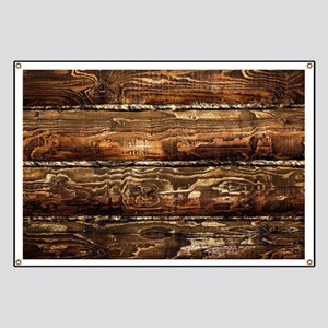 DARK STAINED WOOD WALL Banner