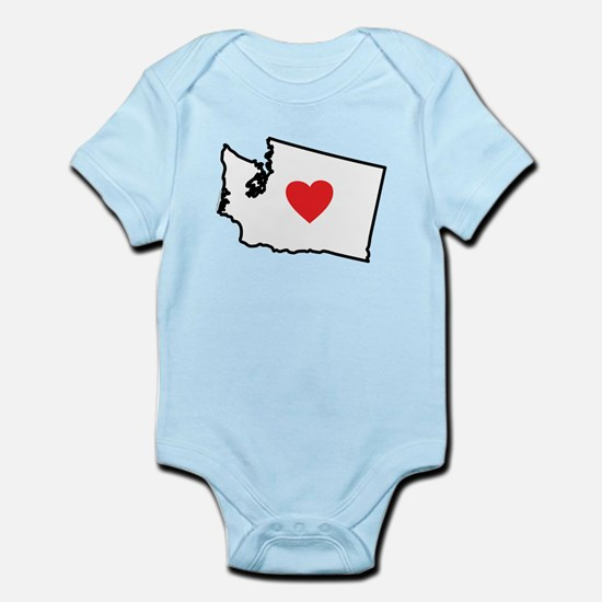 I Love Washington Infant Bodysuit