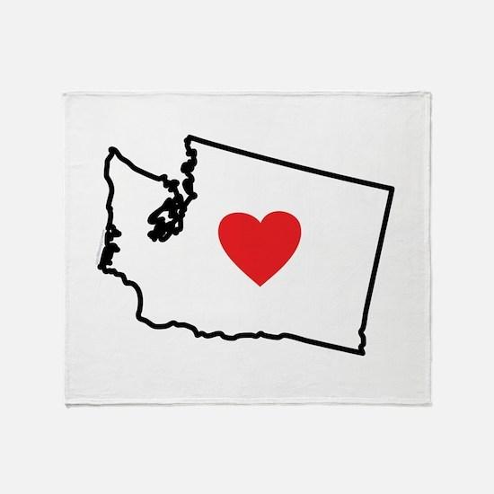 I Love Washington Throw Blanket