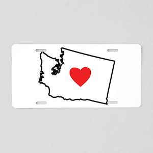 I Love Washington Aluminum License Plate