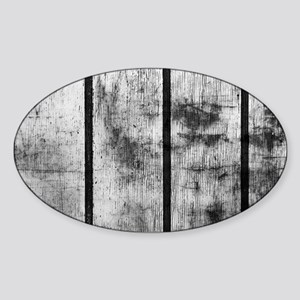 BLACK AND WHITE FENCE Sticker (Oval)
